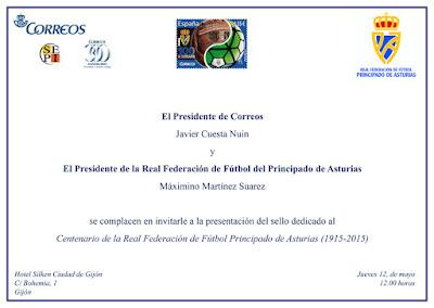 Presentación sello centenario federación asturiana de fútbol