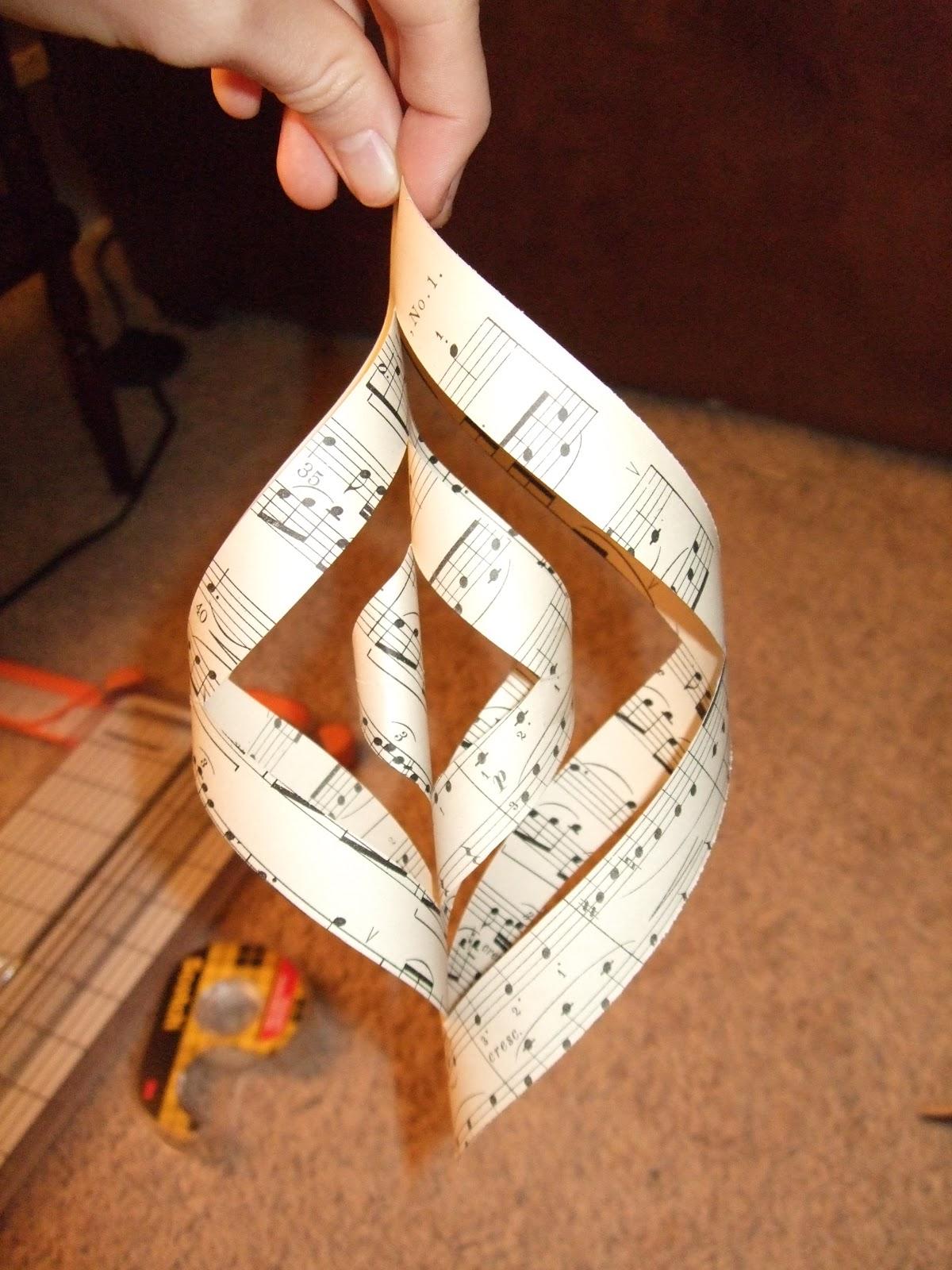 Courtney S Ideas ♫ Sheet Music Spiral Ornament