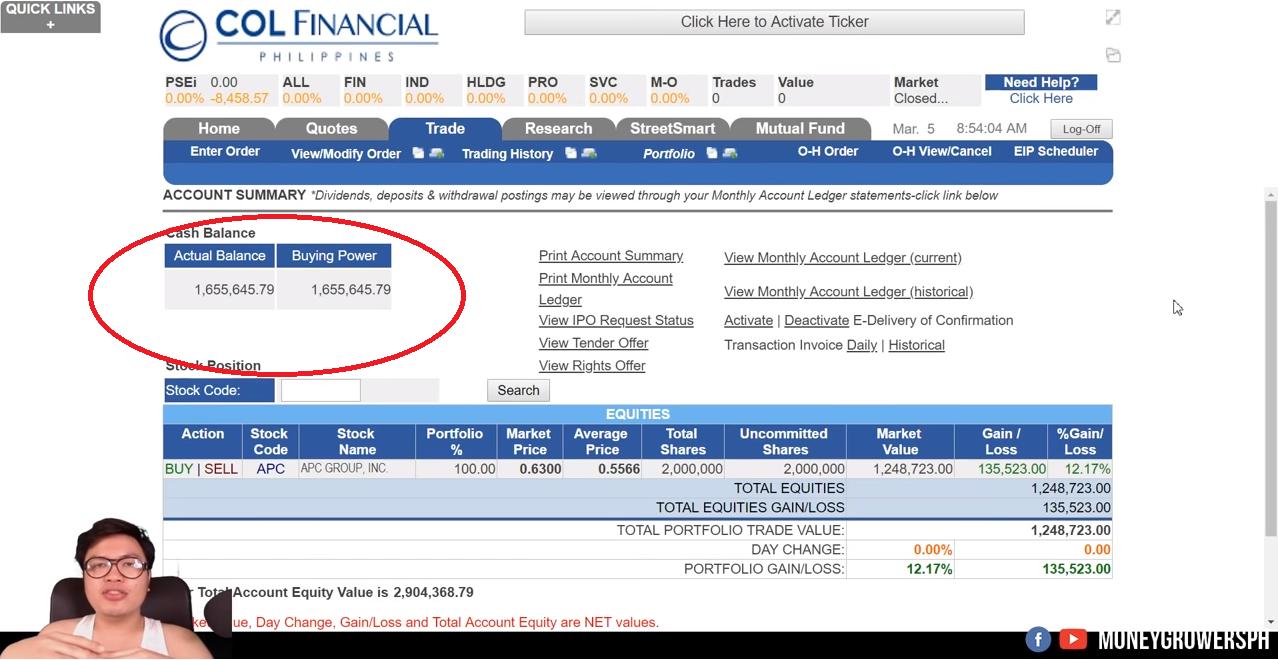 Akio now a millionaire trade stocks