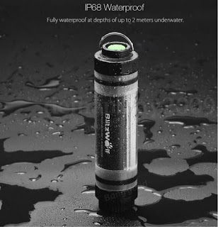 BlitzWolf BW-LT5 IP68 Waterproof LED Lamp Light 2600mAh Powerbank Emergency Camp