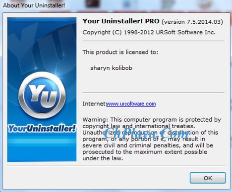 Download Your Uninstaller Full PRO- Gỡ cài đặt ứng dụng trên máy tính a