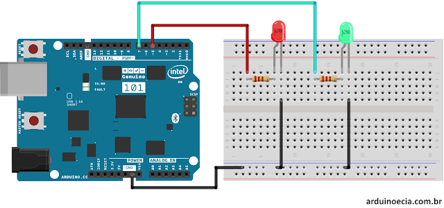 Circuito Genuino 101 e Bluetooth LE