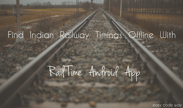 Find Indian Train Timings Offline