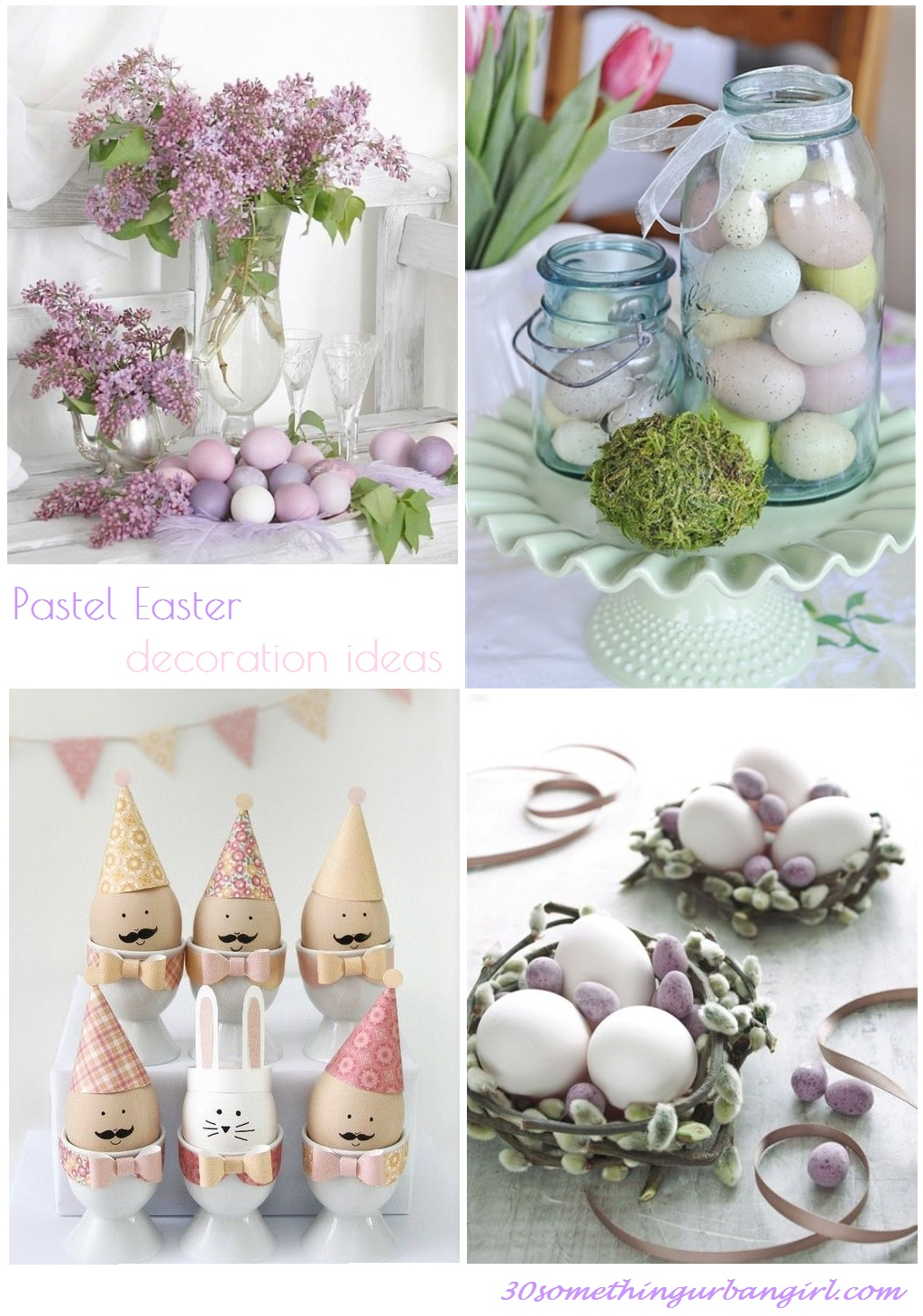 lovely pastel Easter decoration ideas