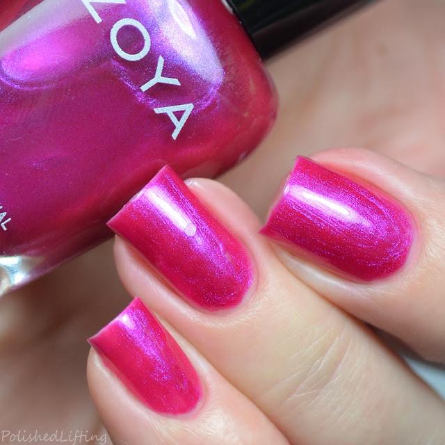 fuchsia shimmer nail polish