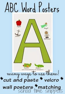 free a z word poster printables school time snippets
