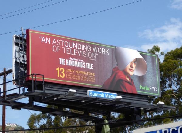 Handmaids Tale astounding work Television Emmy billboard