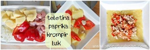 Teletina, paprika, krompir i luk za bebe