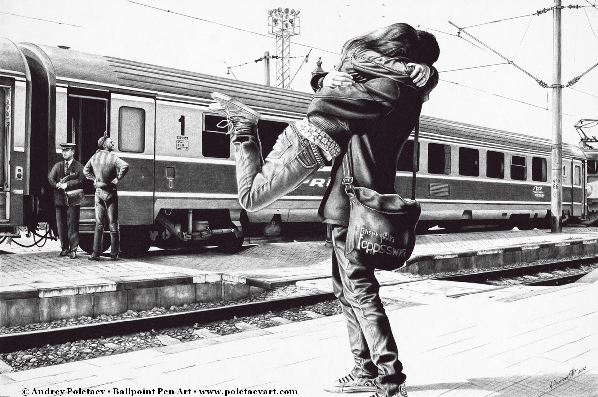 09-Sparkle-at-the-Train-Station-Andrey-Poletaev-Detailed-Urban-Drawings-achieved-with-a-Ballpoint-Pen-www-designstack-co