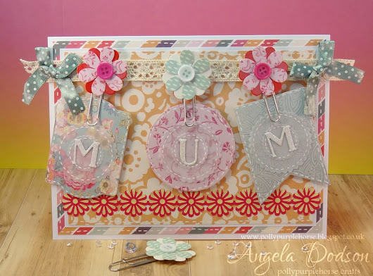 Painted Blooms MUM Card - Trimcraft DT