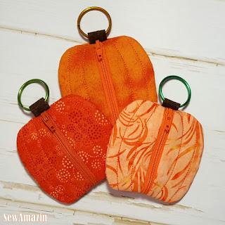 Pumpkin Spice Coin Purse, Earbud Pouch