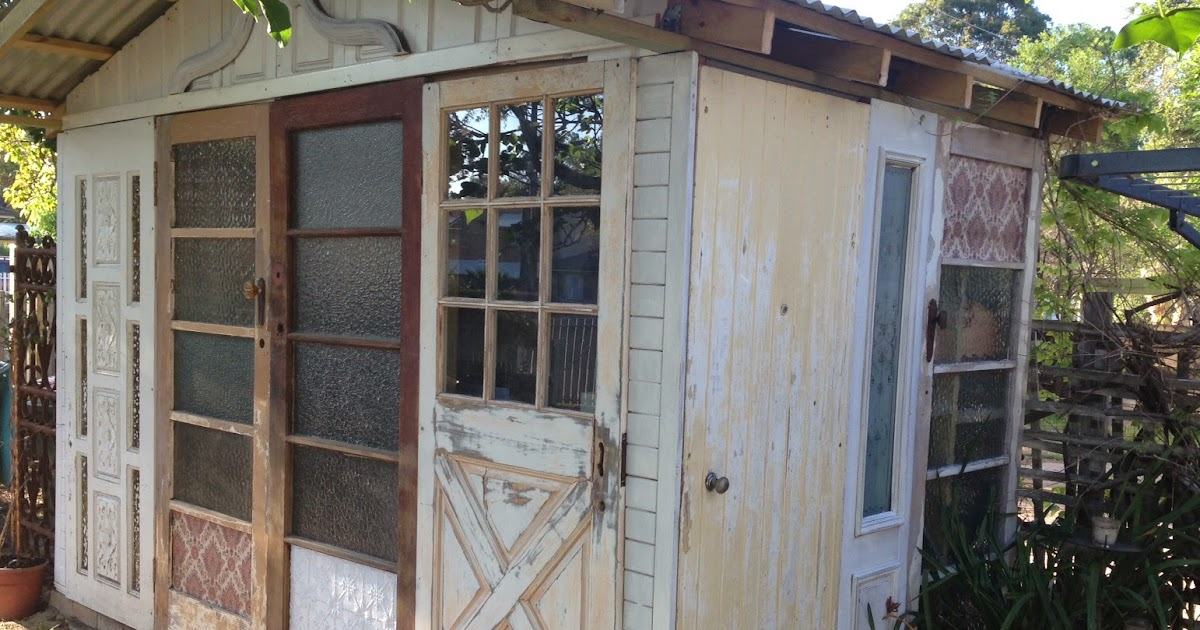 beautiful junk: Recycled Door Garden Shed