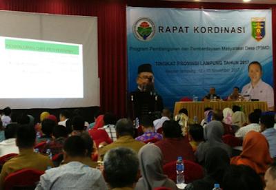 Dinas PMD Lampung Gelar Rakor Program Pembangunan dan Pemberdayaan Masyarakat Desa (P3MD) Tahun 2017