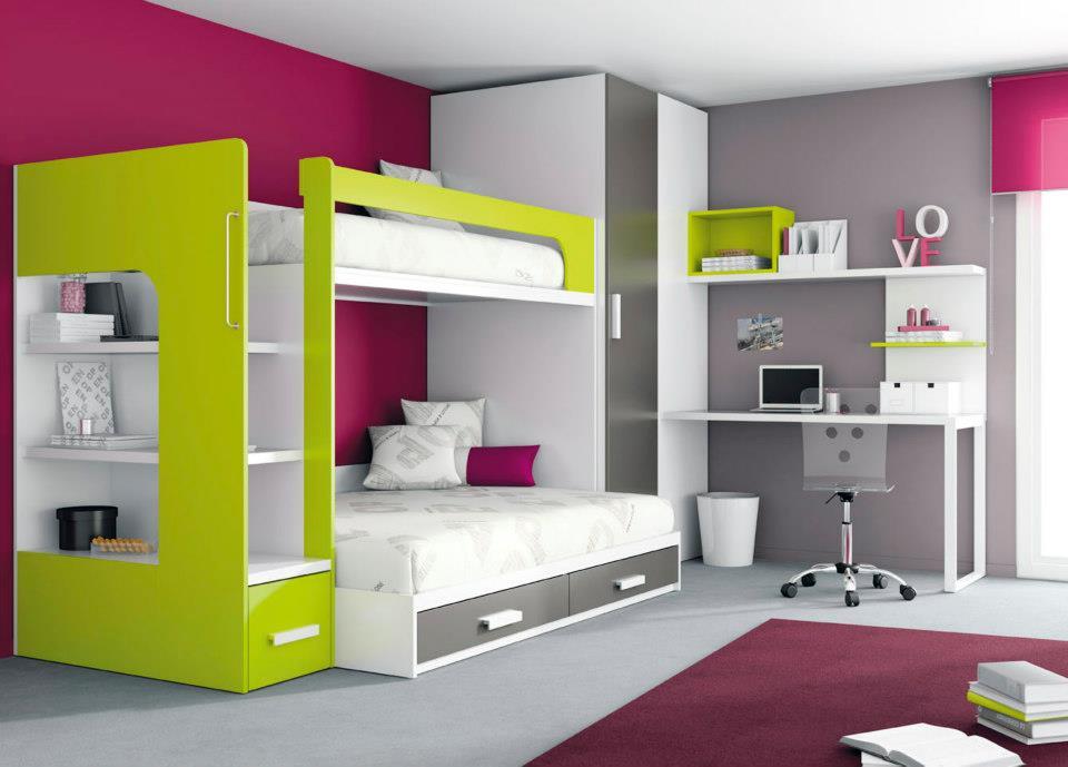 Muebles juveniles muebles infantiles muebles con - Muebles infantiles para habitaciones pequenas ...