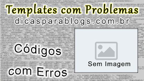 erros com imagens e códigos no blog