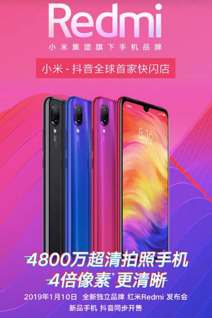 Redmi resmi menjadi brand tersendiri yang siap menyaingi bisnis smartphon.Pasca memisahkan diri dari Xiaomi, Redmi bakal melaunching smartphone terbarunya besok 10 Januari 2019.