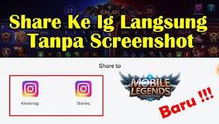 Cara Share Hasil Pertandingan Mobile Legends ke Instagram