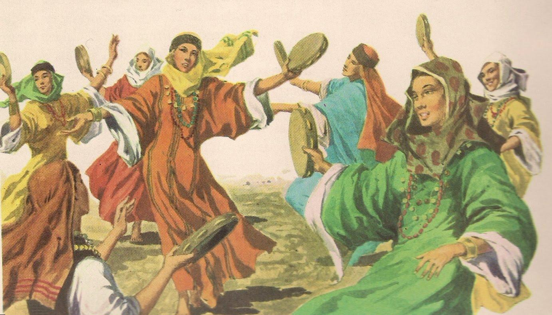 Mulheres israelitas dançando