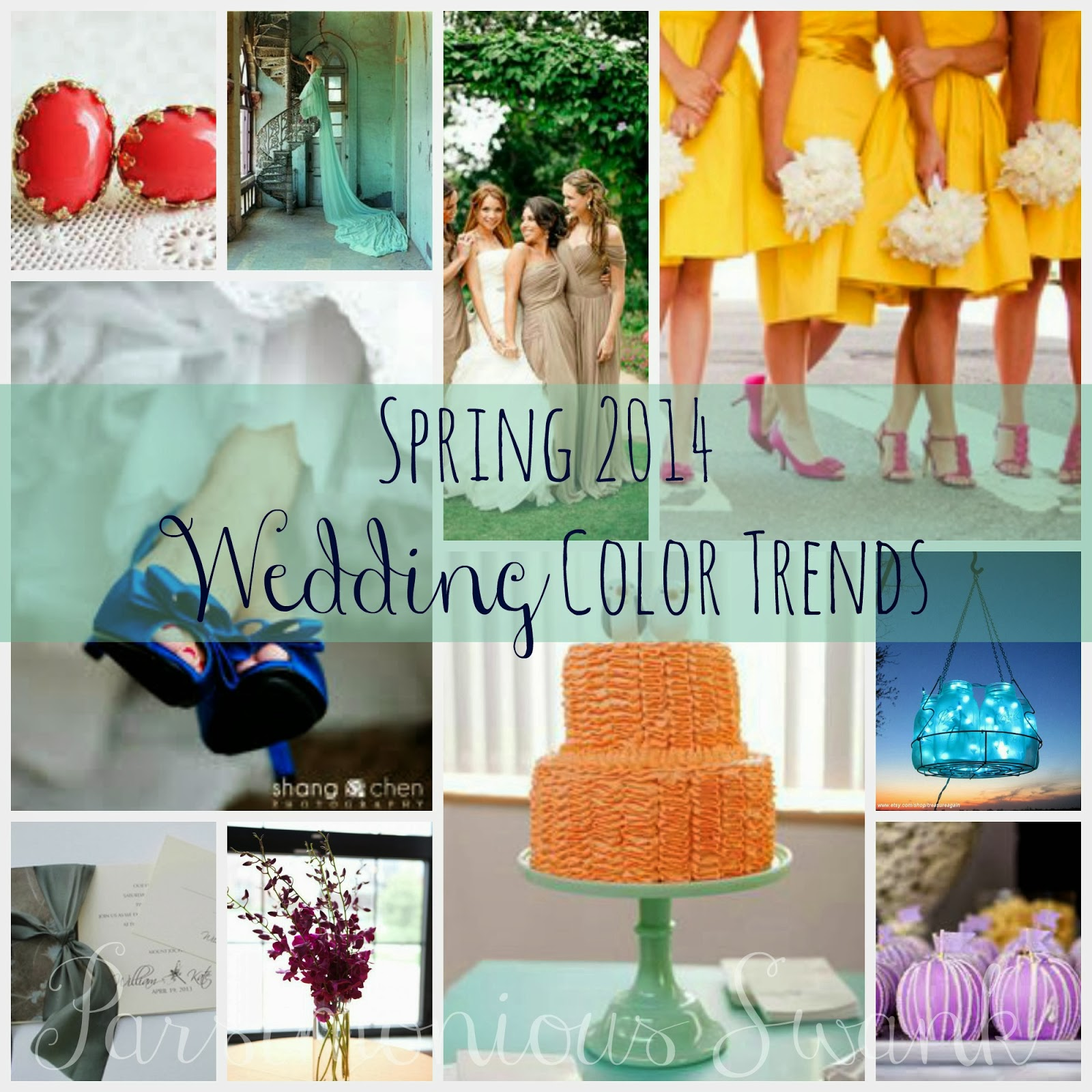 parsimonious swank 2014 wedding color trends