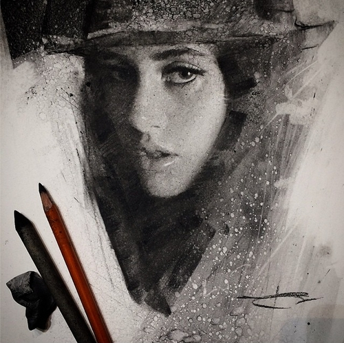 18-Casey-Baugh-Portrait-Drawings-of-Charcoal-Studies-www-designstack-co