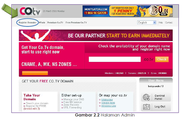 Cara Mendaftar Domain Gratis