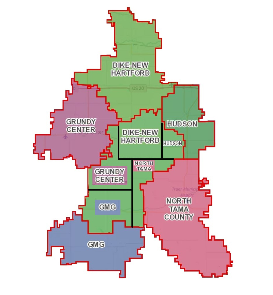 i still occasionally encounter people that think a dissolution means we would separate into two districts just like it was before gladbrook and reinbeck