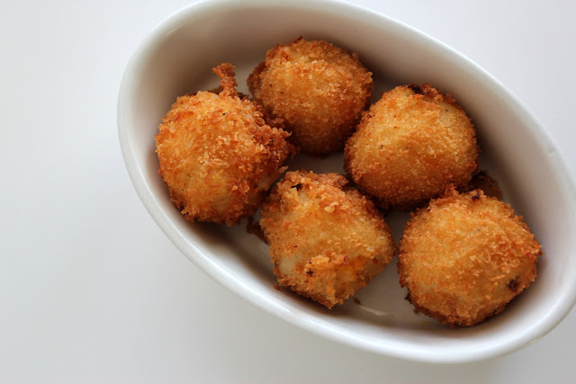Make this savory Fried Mashed Potato Balls recipe for your next big game!