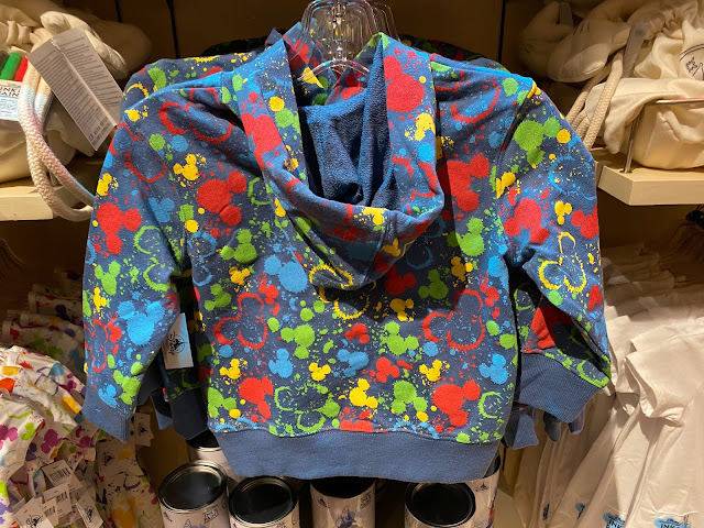 Ink & Paint Child Mickey Head Paint Splatter Hoodie