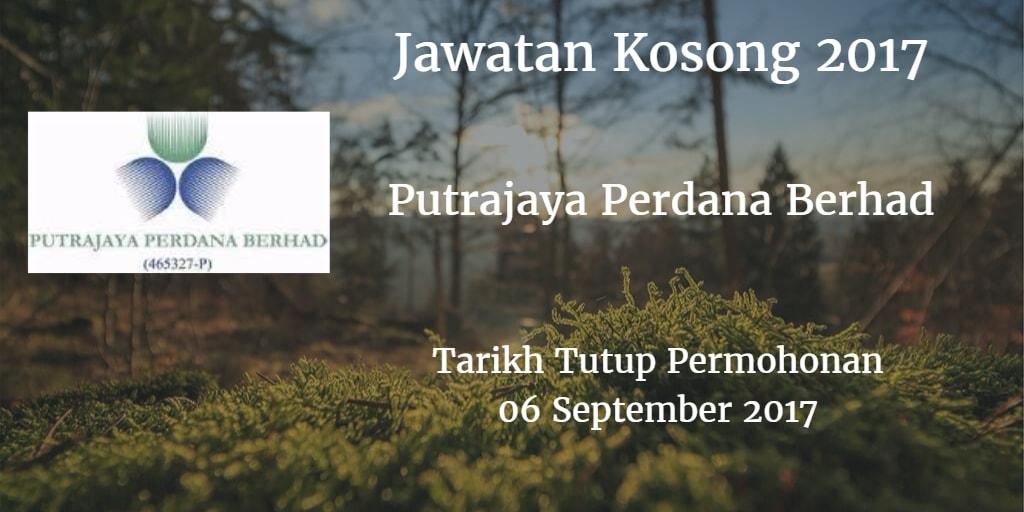 Jawatan Kosong Putrajaya Perdana Berhad 06 September 2017
