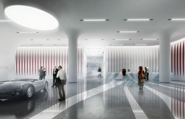 Interior of Amazing New Petersen Automotive Museum in Los Angeles