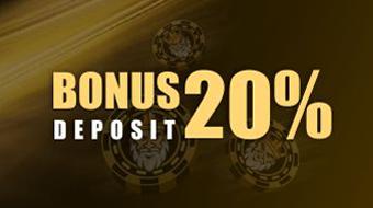 Bonus Deposit 20% Kaisar Poker Online