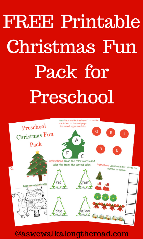 Free printable christmas pack for preschool