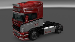 Red Wolf 2 skin for Scania RJL
