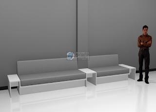Desain Sofa Menyatu Dengan Meja