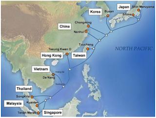 Tuyến cáp quang biển APG quốc tế đã có sự cố