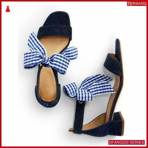 DFAN3220S34 Sepatu Pz 01 Hak Wanita Tahu Pita BMGShop