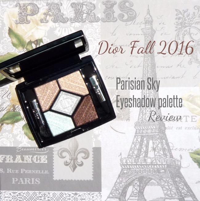 Dior Parisian Sky eyeshadow palette Skyline collection: review, photos, swatches