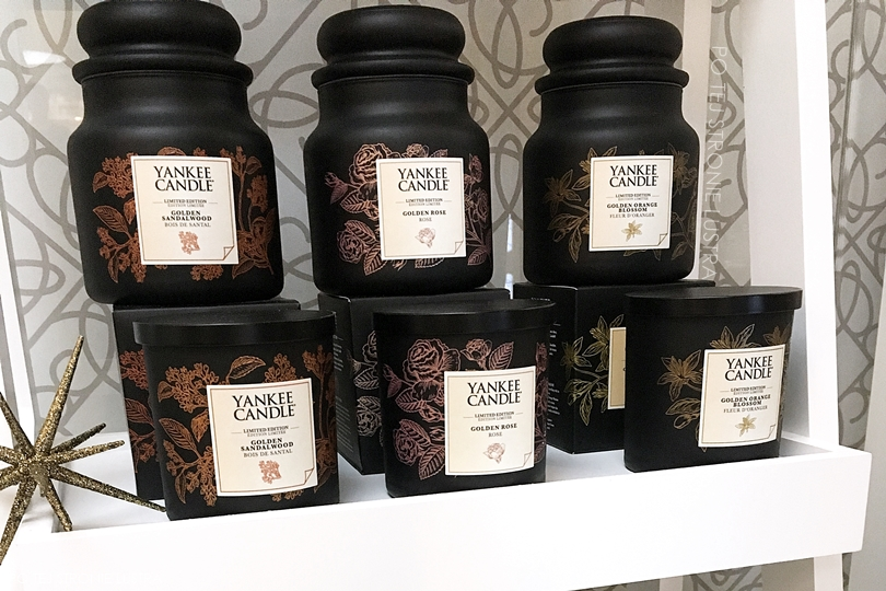 yankee candle gold collection