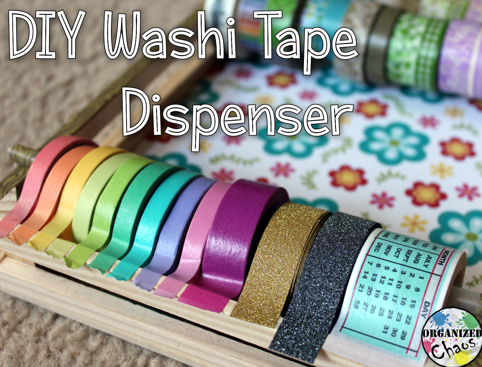 mommy monday diy washi tape dispenser organized chaos. Black Bedroom Furniture Sets. Home Design Ideas