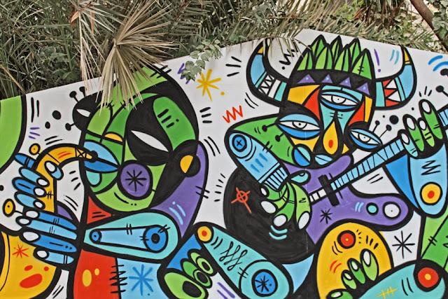 Street Art By Ruben Sanchez In the Al Bastakiya district of Dubai, United Arab Emirates.  2