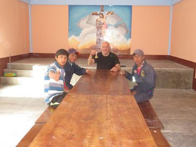 Probesitzung im neuen Pfarrsaal am Samstag trifft sich die Zona Pastoral in Esmoraca