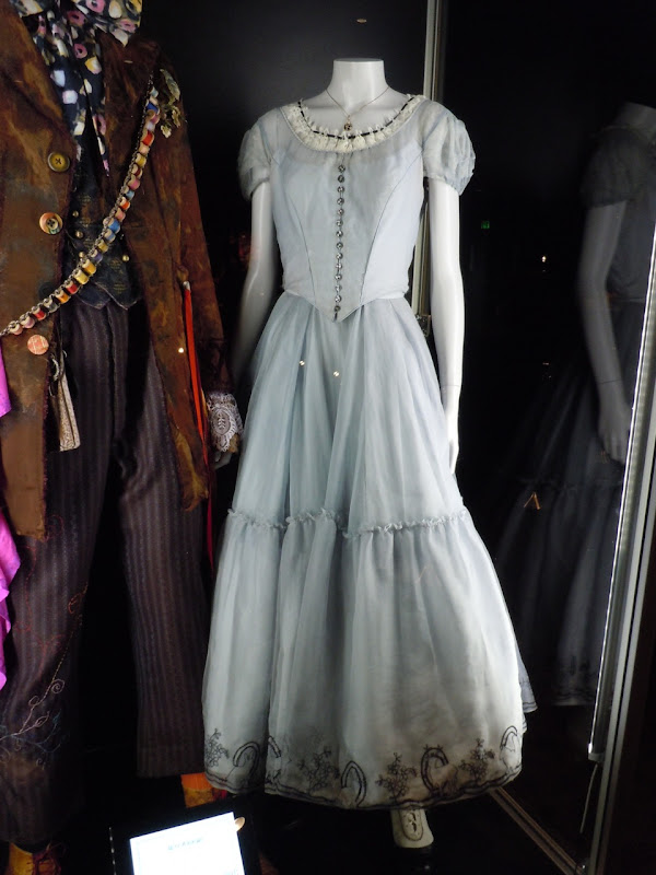 Alice in Wonderland blue silk dress