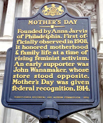 Mother's Day Historical Marker in Philadelphia Pennsylvania