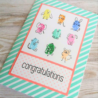 Girly card with the Fingerprint Doodles stamp set from SSS