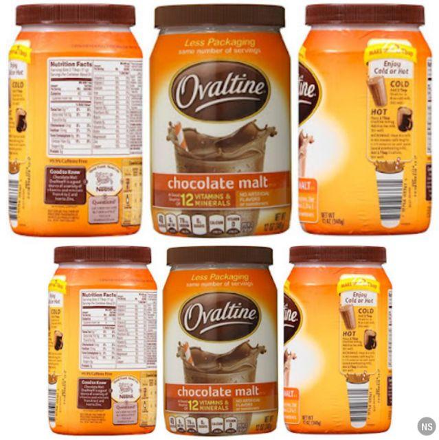 Breakfast Chocolate Malt Drink - Ovaltine Beverage by Nestle - Grocery
