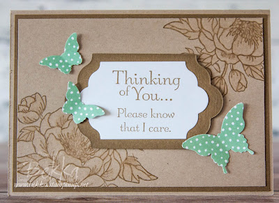 Sympathy Card Made Using Stampin' Up! UK Supplies.  Get the details here.