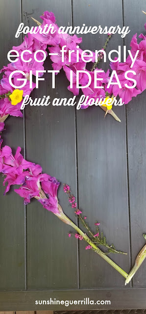 memorable and eco-friendly 4th anniversary gift ideas- fruit and flowers heart