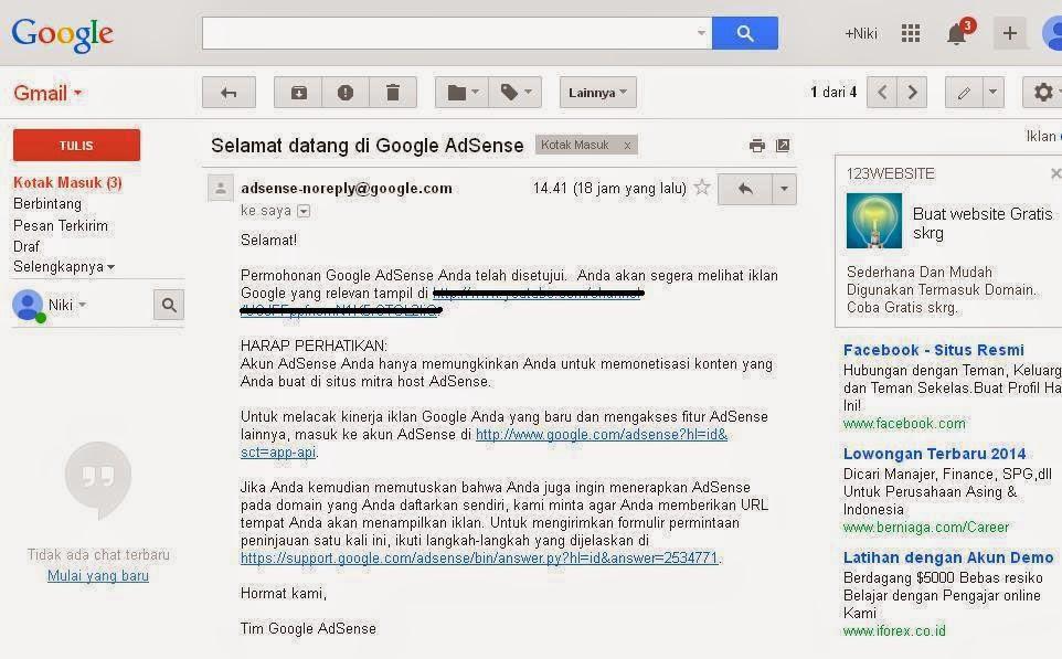 Jasa Pembuatan Account Google Adsense Non Hosted