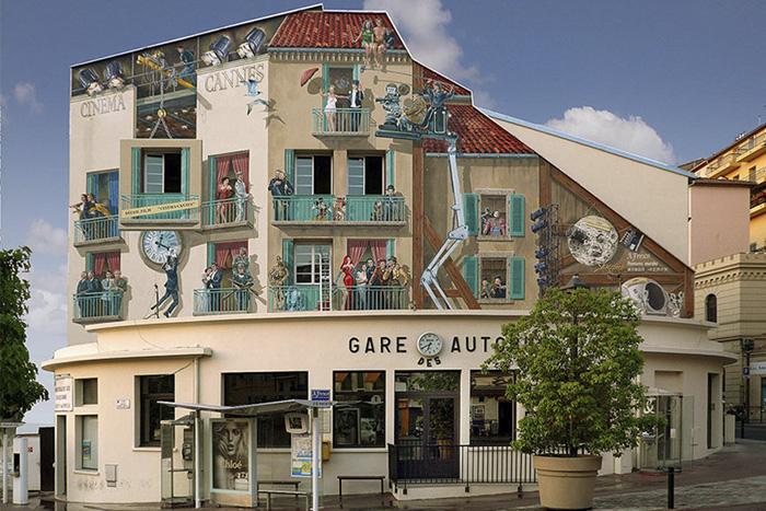 French Artist Transforms Boring City Walls Into Vibrant Scenes Full Of Life - Cinéma-Cannes