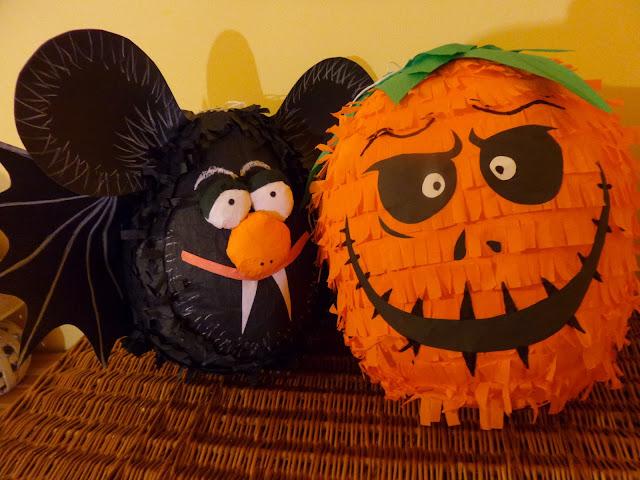 Piniaty Dynia i Nietoperz na Halloween!
